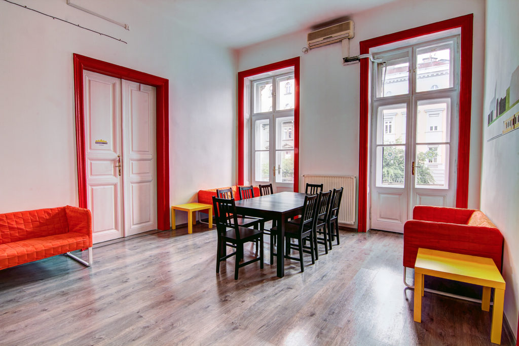 Bright and spacious common room at Pal's Mini Hostel at Octogon Square