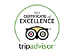 Tripadvisor Certificate of Excellence 2016 for Pal's Hostel