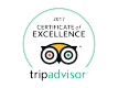 Tripadvisor Certificate of Excellence 2017 for Pal's Hostel