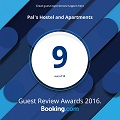 Booking.com Guest Review Award 2016 - Pal's Hostel