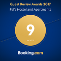 Booking.com Guest Review Award 2017 - Pal's Hostel